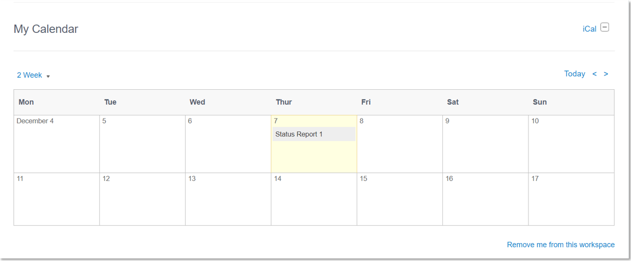what is the workspace calendar used for huddle help