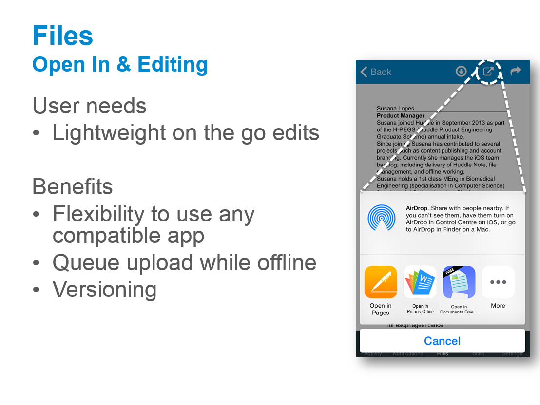 Editing documents on Huddle for iPad or iPhone – Huddle Help