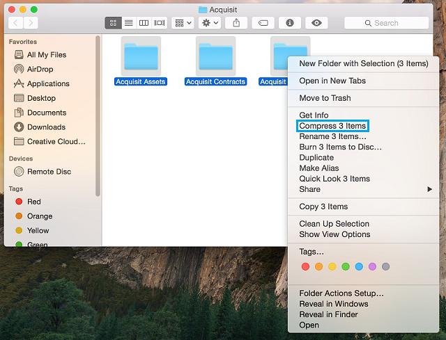 How to Make a Zip File on Mac OSX – Huddle Help