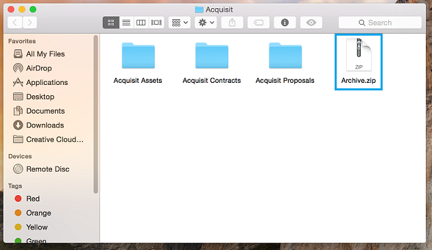 how to use zip files on mac