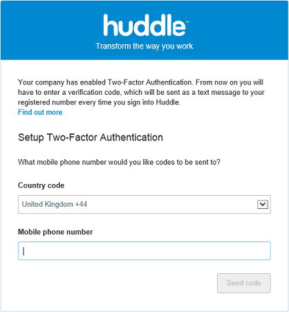 Signing into Huddle with Two-Factor Authentication – Huddle Help